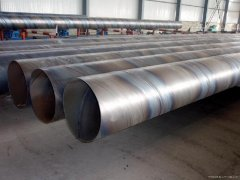 Production of spiral steel pipe