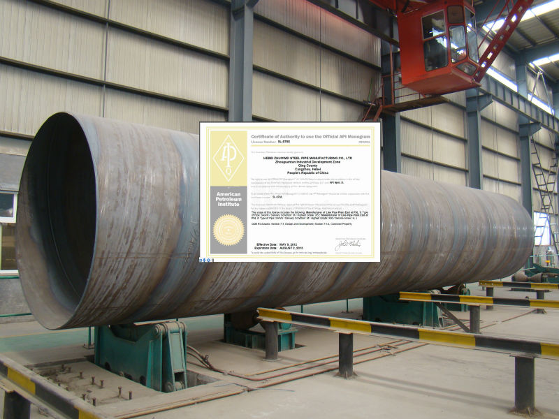 Spiral Welded gas Pipeline