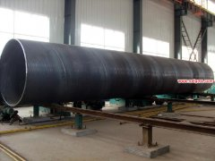 Spiral steel pipe, welded steel pipe production process